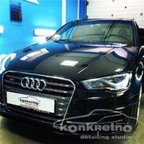 Полировка автомобиля Audi чёрный цвет