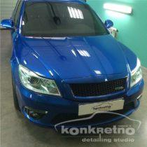 Полировка Skoda Octavia RS синего цвета