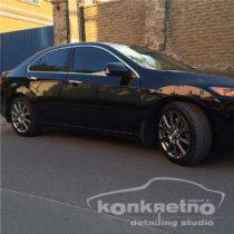 Полировка чёрного цвета Honda, обновление лакокрасочного покрытия