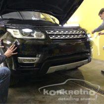Оклейка пленкой бампера Range Rover