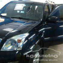 Полировка Toyota Prado, насыщенный чёрный цвет