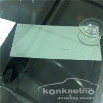 Ремонт трещины с поворотом на лобовом стекле
