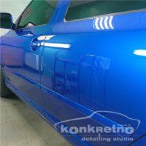 Полировка Skoda, насыщенный и богатый синий цвет