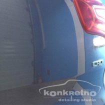 Ремонт вмятины на заднем крыле авто и лёгкая полировка элемента