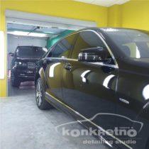 Чёрный Mercedes полировка