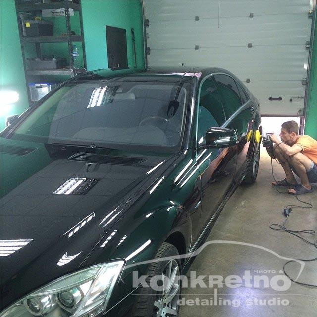 Полировка Mercedes 221 кузов