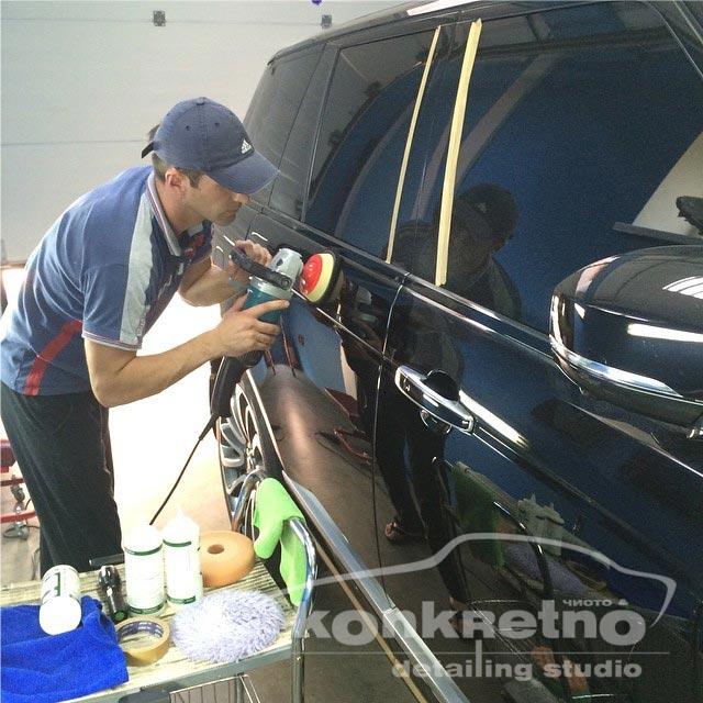 Полировка кузова Range Rover чёрного цвета