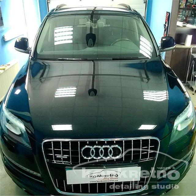 Полировка Audi Q7 чёрная