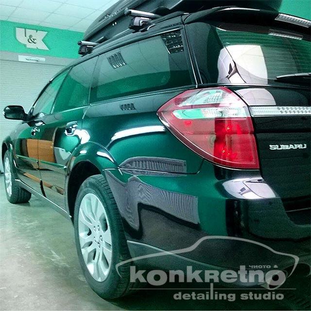 Полировка Subaru чёрный цвет