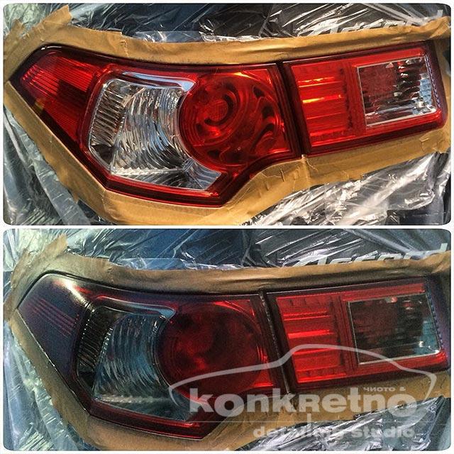 Полировка задних фонарей Honda