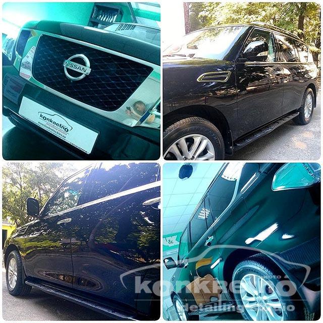 Полировка Nissan Pathfinder чёрного цвета